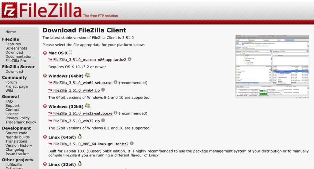 FileZilla-Download